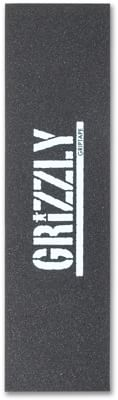 Grizzly Stamp Print Perforated Skateboard Grip Tape - black/white print - view large