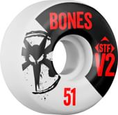 Bones STF V2 Thin Bones Skateboard Wheels - white 2014 (83b)