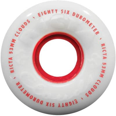 Ricta Cloud Skateboard Wheels - white/red (86a) - view large
