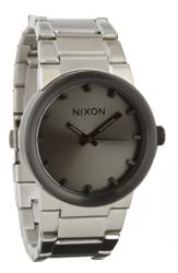 Nixon Cannon Watch - silver/gunmetal