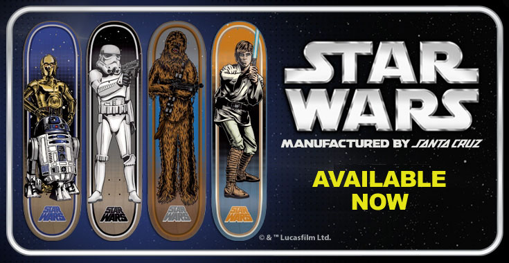 New Star Wars Decks from Santa Cruz - Available Now