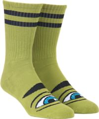Toy Machine Sect Eye III Crew Sock - army