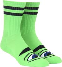 Toy Machine Sect Eye III Crew Sock - lime green