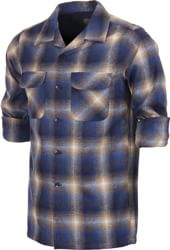 Pendleton Fitted Board Shirt Flannel - tan/blue ombre
