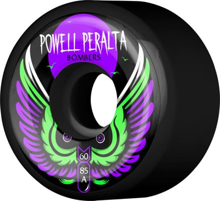 Powell Peralta Bombers 3 Skateboard Wheels - black 60 (85a) - view large