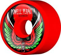 Powell Peralta Bombers 3 Skateboard Wheels - red 64 (85a)