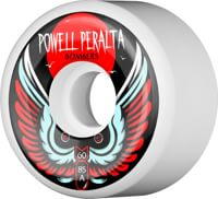 Powell Peralta Bombers 3 Skateboard Wheels - white 60 (85a)