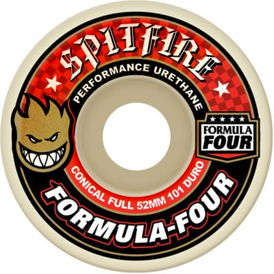 Spitfire Formula Four Conical Full Skateboard Wheels - white (101d) - view large