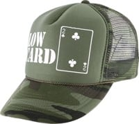 Lowcard Original Logo Mesh Trucker Hat - hunter camo mesh