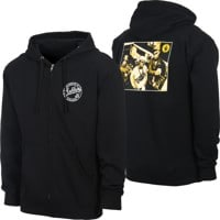 Obey Public Enemy Zip Hoodie - black