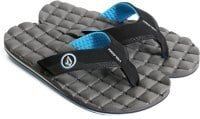 Volcom Recliner Sandals - grey blue