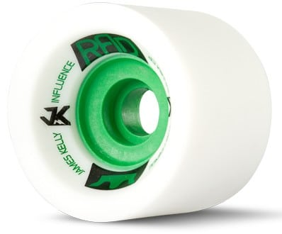 R.A.D. James Kelly Influence Longboard Wheels - white (80a) - view large