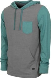 RVCA Set Up Hoodie - grey noise