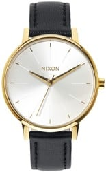 Nixon Kensington Leather Watch - gold/white