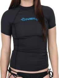 O'Neill Women's Basic Skins Short Sleeve Rash Guard - black