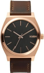 Nixon Time Teller Watch - rose gold/gunmetal/brown