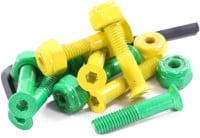Shake Junt Allen Bag-O-Bolts Skateboard Hardware - all green/yellow