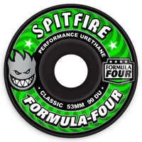 Spitfire Formula Four Classic Skateboard Wheels - black (99d)