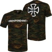 Independent Bar/Cross T-Shirt - camouflage green