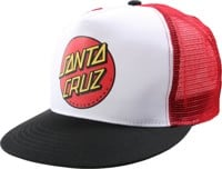 Santa Cruz Classic Dot Trucker Hat - white/black/red