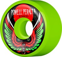 Powell Peralta Bombers 3 Skateboard Wheels - green 64 (85a)