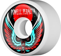 Powell Peralta Bombers 3 Skateboard Wheels - white 68 (85a)