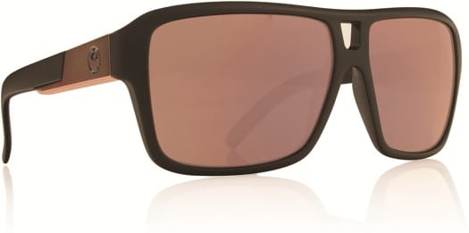 Dragon The Jam Sunglasses - matte black/rose gold ion lens - view large