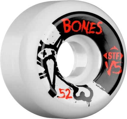 Bones STF V5 Skateboard Wheels - white (83b) - view large