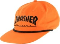 Thrasher Logo Rope Snapback Hat - orange