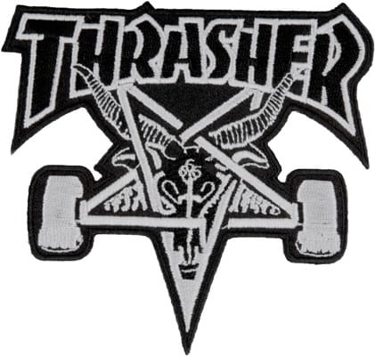 Thrasher Skate Goat Patch - white - view large