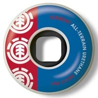 Element Section All-Terrain Skateboard Wheels - white/red-blue (95a)