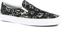 Vans Classic Slip-On Skate Shoes - (indigo) black denim/true white