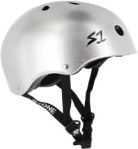 S-One Lifer Dual Certified Multi-Impact Skate Helmet - silver gloss glitter