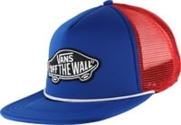 Vans Classic Patch Trucker Hat - royal blue/high risk red
