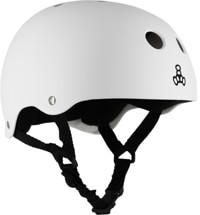 Triple Eight Heed XXL Brainsaver Skate Helmet - white rubber