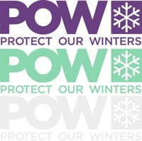 Protect Our Winters POW Die Cut Sticker - mint green/white/purple (3-pack)