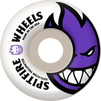 Spitfire Bighead Skateboard Wheels - white/purple 54 (99d)