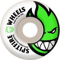 Spitfire Bighead Skateboard Wheels - white/green 53 (99d)