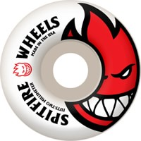 Spitfire Bighead Skateboard Wheels - white/red 52 (99d)