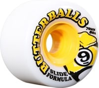 Sector 9 Butterball Slide Formula Longboard Wheels - white 70 (80a)