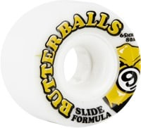 Sector 9 Butterball Slide Formula Longboard Wheels - white 65 (80a)
