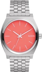 Nixon Time Teller Watch - bright coral