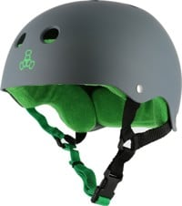 Triple Eight Brainsaver Multi-Impact Sweatsaver Skate Helmet - carbon rubber