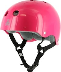 Triple Eight Brainsaver Multi-Impact Sweatsaver Skate Helmet - pink glossy