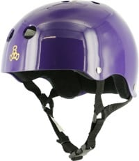 Triple Eight Brainsaver Multi-Impact Sweatsaver Skate Helmet - purple glossy