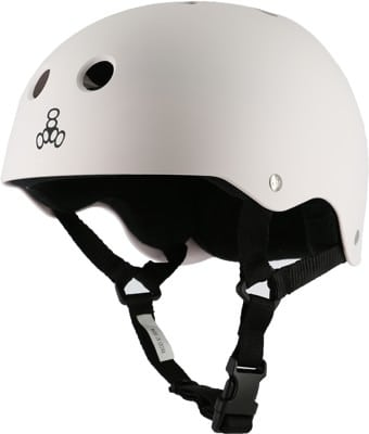 Triple Eight Brainsaver Multi-Impact Sweatsaver Skate Helmet - white rubber - view large