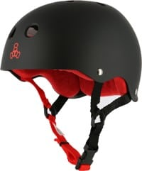 Triple Eight Brainsaver Multi-Impact Sweatsaver Skate Helmet - black rubber/red