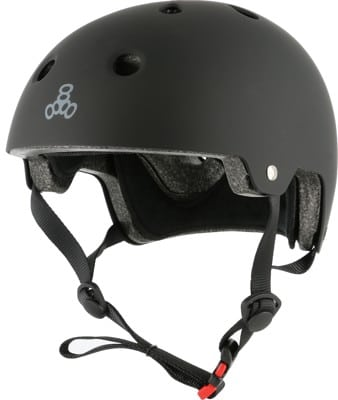 Triple Eight Brainsaver EPS Dual Certified Skate Helmet - black rubber - view large