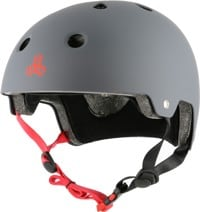 Triple Eight Brainsaver EPS Dual Certified Skate Helmet - gun rubber