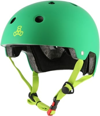 Triple Eight Brainsaver EPS Dual Certified Skate Helmet - kelly green rubber - view large